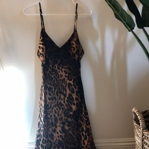 Cheetah Print Mid-Calf Dress